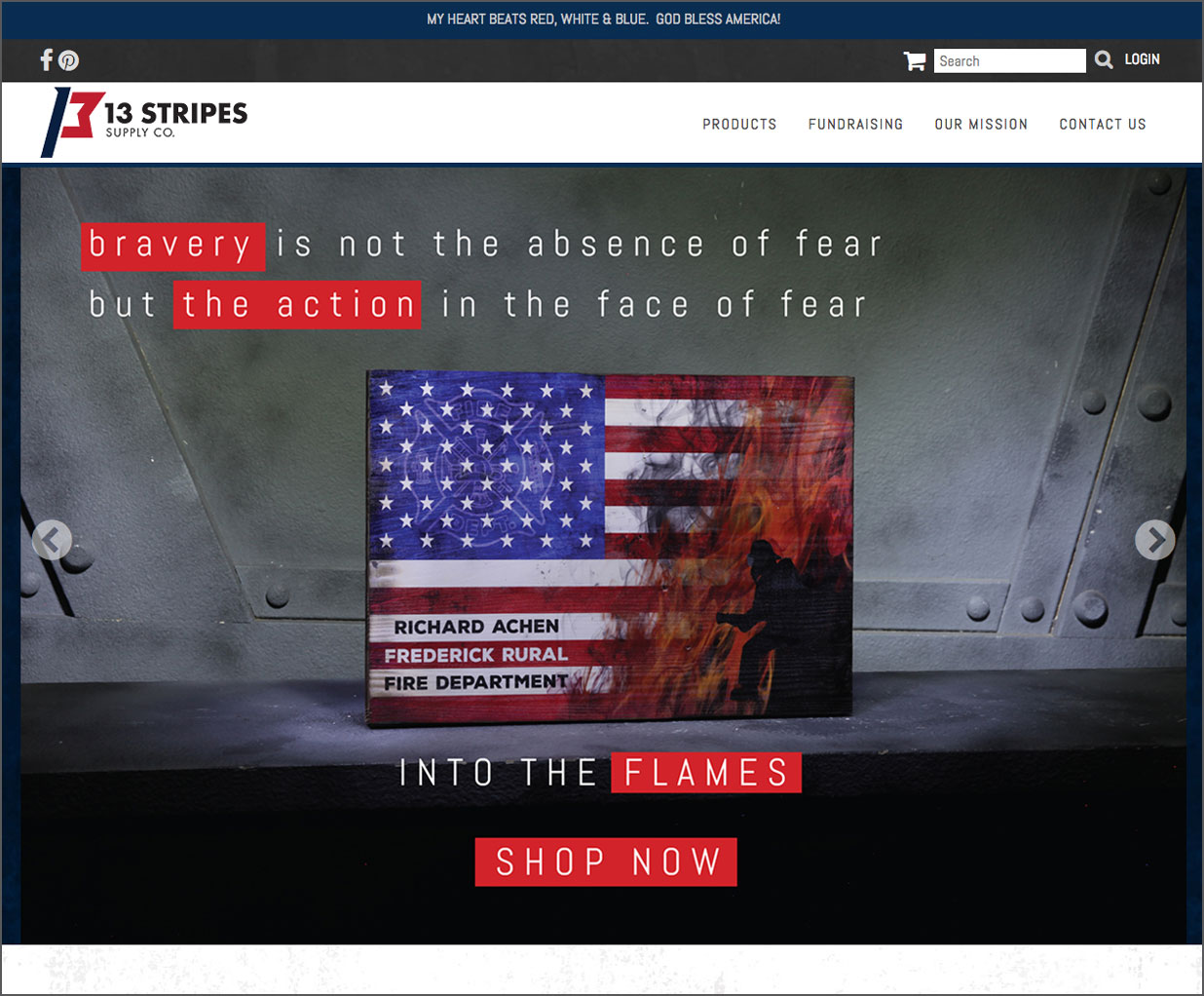 13 Stripes website