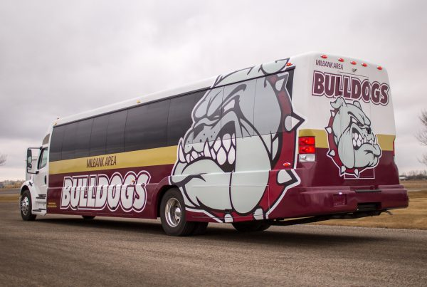 Bulldog Bus Wrap
